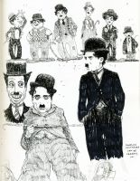 chaplin and impersonators by damianblake