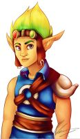 Jak and Daxter - Jak  -Speed Painting- by ValeriaDiStefano