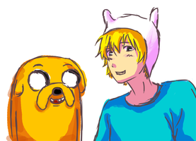 Finn and Jake by missxdelaney