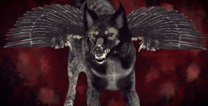 Dire demon wolf by Onif