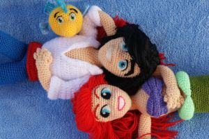 Ariel, Eric y Flounder ^^ by SSelphieSS
