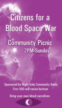 Citizens for a Blood Space War Picnic Poster by immortal--flower