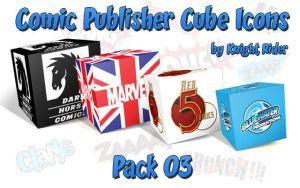 Comic Publisher Cube Icons-03 by KnightRider-SQ