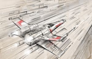Star Wars X Wing by Nikkolas Smith by Nikkolas-Smith