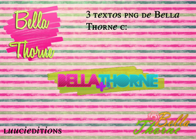 Pack de 3 textos png Bella Thorne by LuuciEditions
