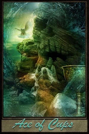 Ace of Cups - Tarot Card by Ellyevans679