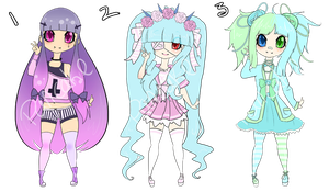 Pastel cuties adopt :CLOSED: by usagi-wonderland