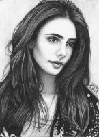 Lily Collins by airlabrador