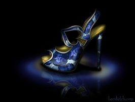 Alice Inspired Shoe - Disney Sole by becsketch