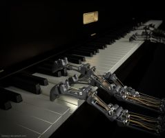 21st Century Player Piano Robot (Part 1) by Byron1c