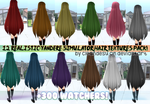 [300+WATCHERS] 12 HAIR TEXTURES PACK! by cleandesu