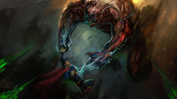 Superman Against Parasite by MightyMoose
