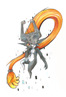 Old Imp Midna Drawing by PizzaPastaPrincess