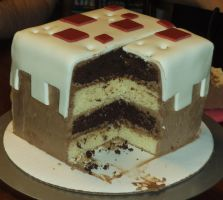 Minecraft Cake Cake by Qess