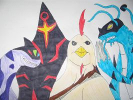 CharmAlien and Malware and Liam and Blizzard by FantasyWorld24