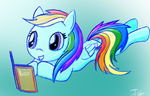 Rainbow Dash reading a Book by XTorbenX