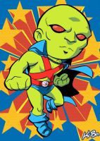 Super Powers Martian Manhunter Art Card by K-Bo. by kevinbolk