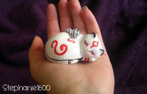 *FOR SALE* Customized ceramic 'Kabegami' figure by stephanie1600