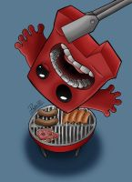 Ilustracion Super Meat Boy by Pepowned