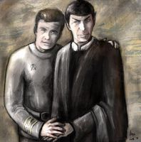 Spock and Kirk by iscalox