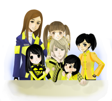 Super Sentai: Yellow Family by suyupu