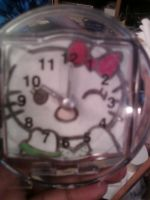 Hello Kitty mini clock by cutiechibi