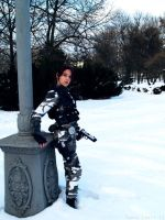 Lara Croft - winter camo by TanyaCroft