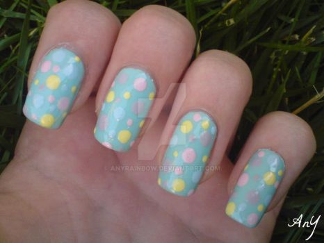 Pastel Dots Nail Design by AnyRainbow