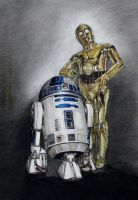 R2-D2 and C-3PO (Star Wars) by AmBr0