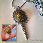 'Shiny cogs' Steampunk pendant by CopperAndCogs