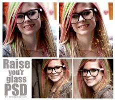 Raise You'r Glass psd by Dinosaursattack
