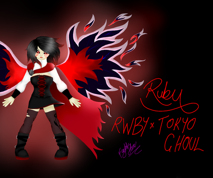 RWBY X Tokyo Ghoul 1 - Ruby Rose by FightStorm