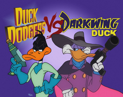 Duck Dodgers V.S. Darkwing Duck by TodoxasRogue69