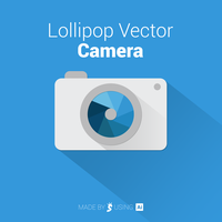 Lollipop Vector Camera Icon by KingSiaris