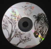 Zebra Carved on CD by ArtCrazy24-7