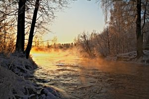 Frosty river by werneri