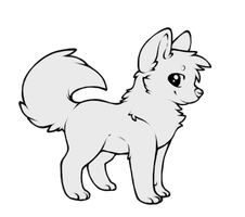 .: lineart study - puppy by omenaapple