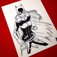 Batgirl sketch by JustinCoffee