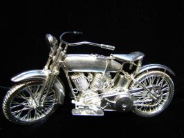 5 inch Silver 1920 Harley Davidson OPEN by SaraAnnDiPity