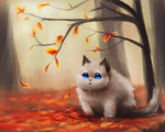 Autumn Kitty by Foxeaf