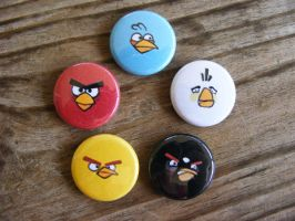 Angry Birds Buttons by CapsuleCorpButtons