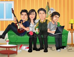 Caricature 'Marta and family' by NataliaBenavides