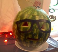 Hipster Watermelonlantern....Thingy... by AwepicNess70