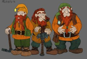 Bifur, Bofur and Bombur by Mara999