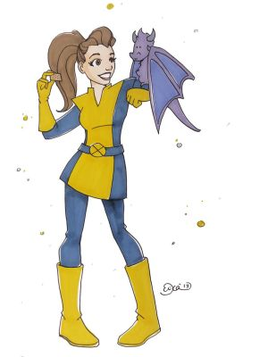 Kitty Pryde and Lockheed - Snacktime by SimplyErika