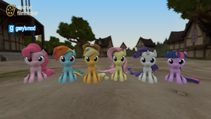 [DL] Mane 6 Filly version by Stefano96