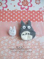 Totoro felt badges by nezstorm