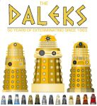 The Daleks - 50 Years [1963 to 2013] by DoctorWhoOne
