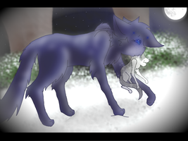 Bluefur and Mosskit::.. by Bast-The-Cat-Goddess