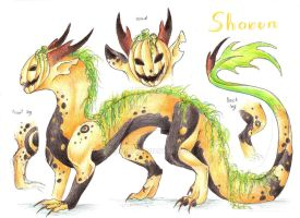 Ref sheet: Sharun by Drerika